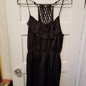Cute Sz M Xhiliration satiny black dress